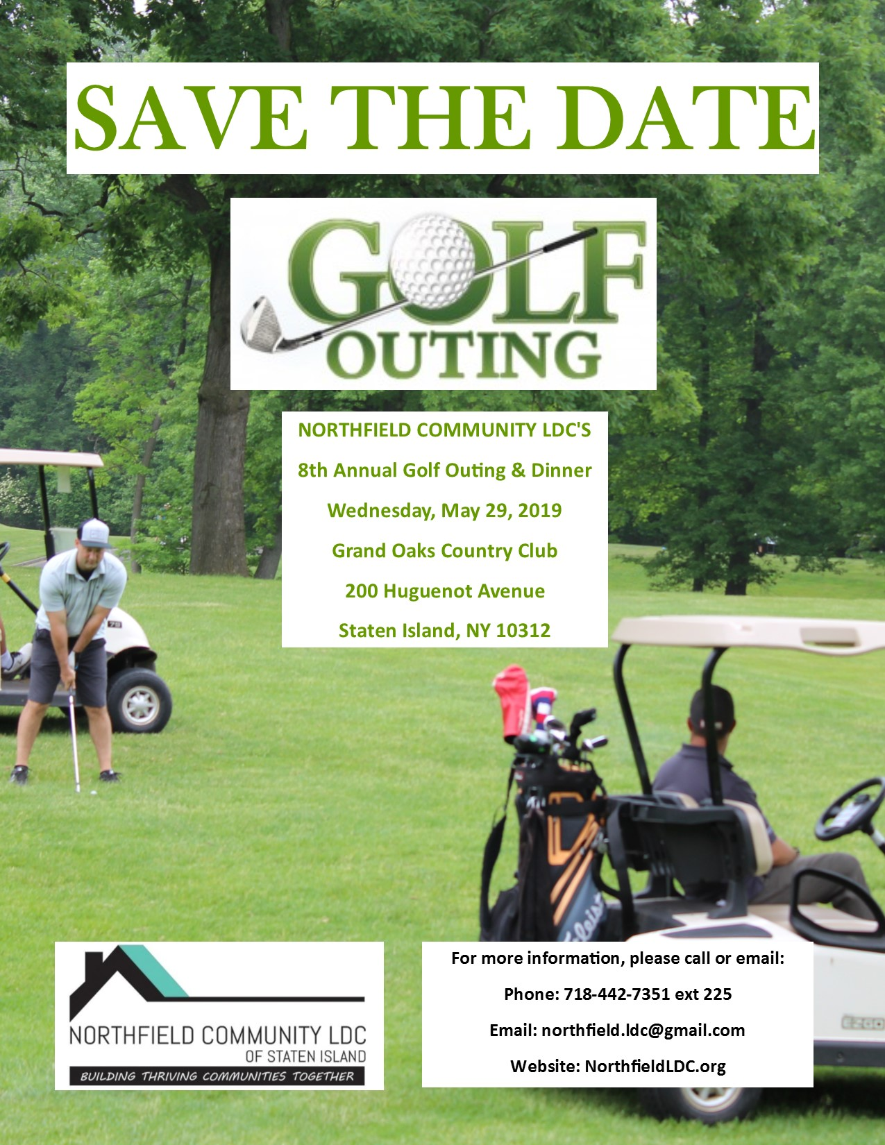 SAVE THE DATE 8th Annual Golf Outing and Dinner @ Grand Oaks Country Club